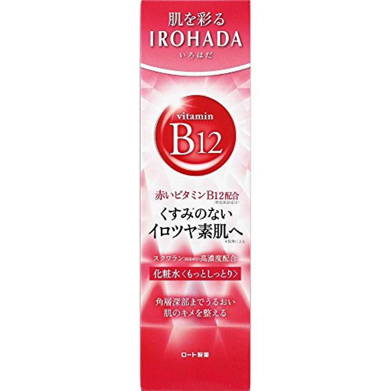 戦いカフェテリアシャンパンロート製薬 いろはだ (IROHADA) 赤いビタミンB12×スクワラン配合 化粧水もっとしっとり 160ml