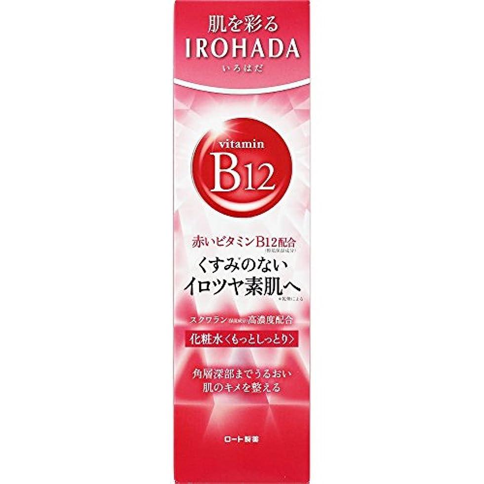 ラケット欠伸インフレーションロート製薬 いろはだ (IROHADA) 赤いビタミンB12×スクワラン配合 化粧水もっとしっとり 160ml