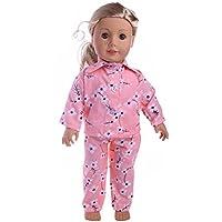Vibola 人形用衣装 かわいいパジャマ ナイトガウン 18インチのOur Generation American Girl Doll (人形は含まれません) 18 inch Vibola® 2515