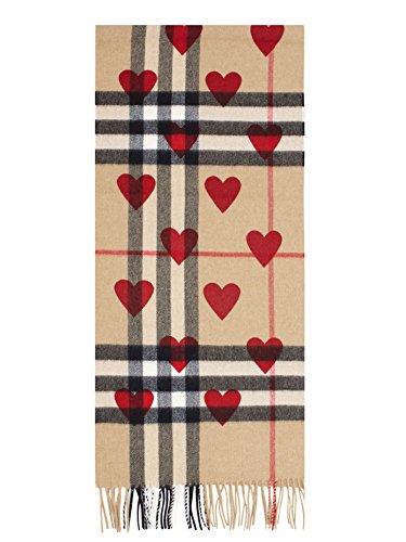 バーバリー アクセサリー マフラー・ストール・スカーフ Burberry Heart & Giant Check Fringed Cas Parade Red 並行輸入品