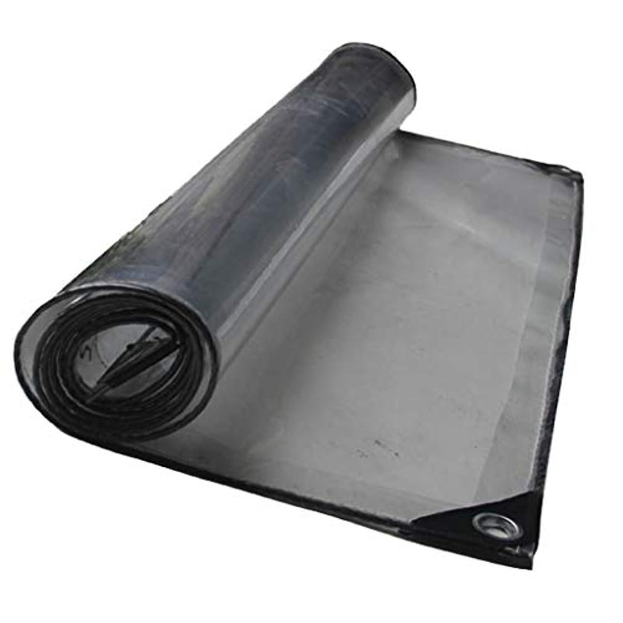 クモ共和党視力XJZxX 防水布厚いサンルーム植物小屋透明ターポリンテント防水ターポリンエアコンカーウォッシュルーム透明テント布 (サイズ さいず : 1.5×3m)