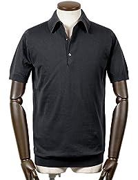 ジョンスメドレー JOHN SMEDLEY / 18SS!シーアイランドコットン30ゲージ半袖ニットポロシャツ『ADRIAN』 (BLACK/ブラック) メンズ