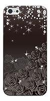 iPhone SE ハードケース 327 薔薇とダイヤモンド 素材クリア