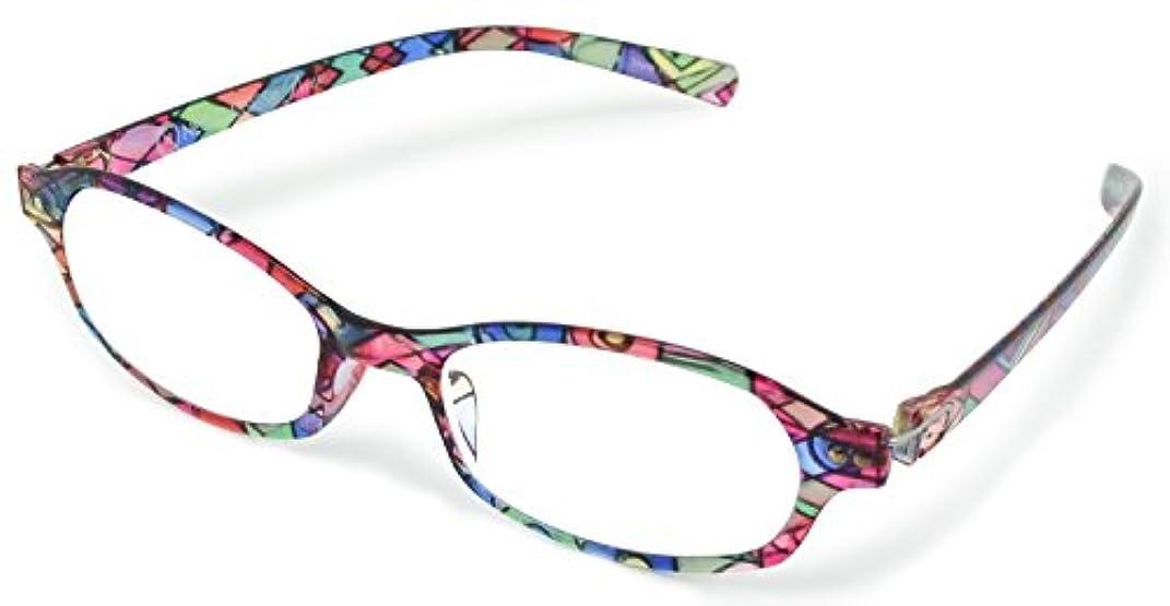 デューク 老眼鏡 レディース +1.0 度数 ネオクラシックデュー 超軽量フレーム ソフトケース付き ステンド GLR-11-7+1.00