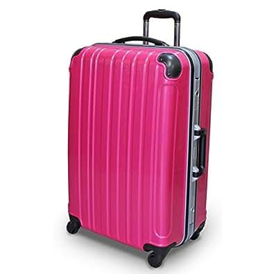 (シェルポッド) shellpod スーツケース TSAロック 軽量 アルミフレームタイプ シェルポッド HF-600 Lサイズ 鏡面ピンク(大型 7日8日9日10日11日12日・長期滞在用)【一年修理保証】【600L/PK】
