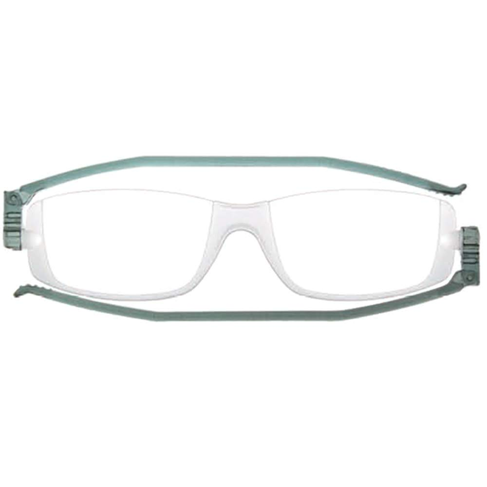 コンパクトグラス2 グレー 老眼鏡 折りたたみ シニアグラス +3.00度