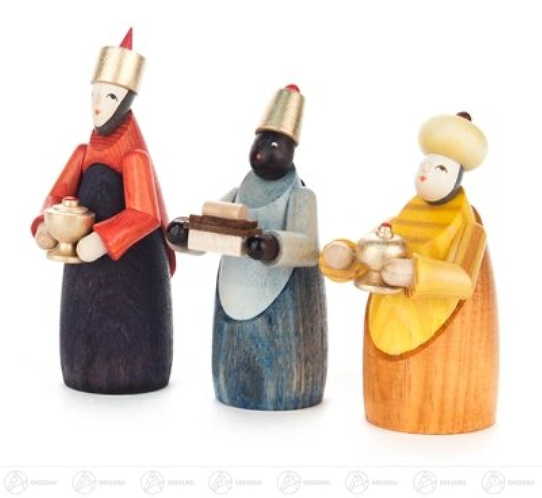 3 人の王の誕生そして付属品の聖者は x の深さ 3 cmx8 cmx2,5 cm の鉱石山のクリスマスの装飾のテーブルの装飾の幅 X の高さを着色しました