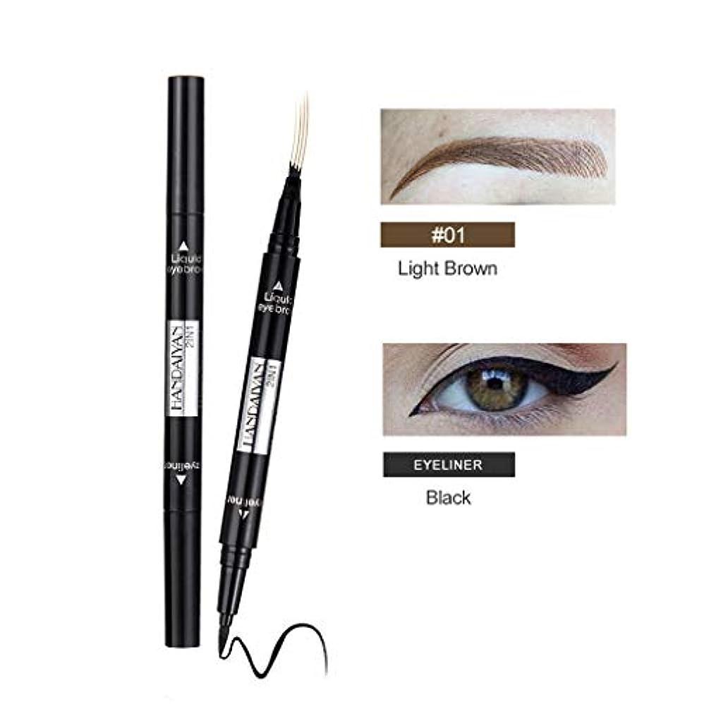 パフ冬英語の授業があります眉毛の入れ墨のペンの防水フォークの先端のスケッチの化粧ペンのMicrobladingインクスケッチ