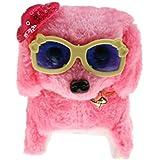 KOZEEYピンク ウォーキング 吠える テール 振る 子犬 電子玩具 wi /帽子&メガネ
