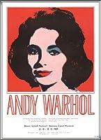 ポスター アンディ ウォーホル エリザベス テイラー 1989 額装品 アルミ製ハイグレードフレーム(シルバー)