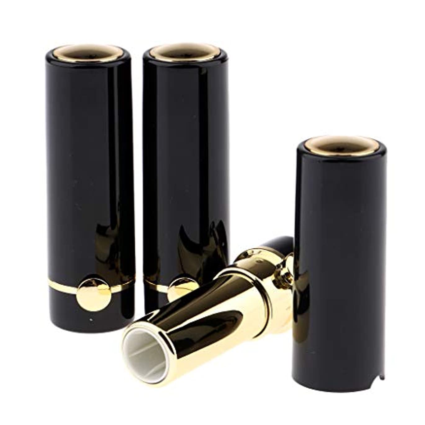 つかいます優遇ヘクタールリップクリームチューブ DIY工芸品 化粧品 詰め替えボトル リップグロスチューブ 12.1mm 全3色 - ブラック