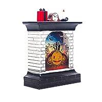 RENKUNDE ハロウィンカボチャライトルーム装飾LEDランタンパーティーホーム小道具クリエイティブ暖炉雰囲気レイアウト小道具 装飾アイテム (Emitting Color : D)