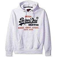 Superdry Men's Storm Softshell Hybrid Zip Hooded Jacket, ice Marl, S