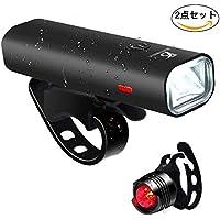 自転車ライト USB充電 LEDヘッドライト スポーツ・アウトドア 自転車・サイクリング 用 ライト 防水 防災フロント用