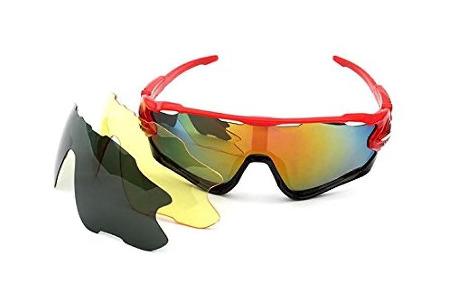 クラシックわかりやすい経歴Besthomelife スポーツサングラス 偏光レンズ 自転車メガネ メガネセット 3枚レンズ付き