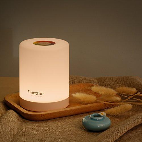 Finether テーブルランプ ベッドサイトランプ USB...
