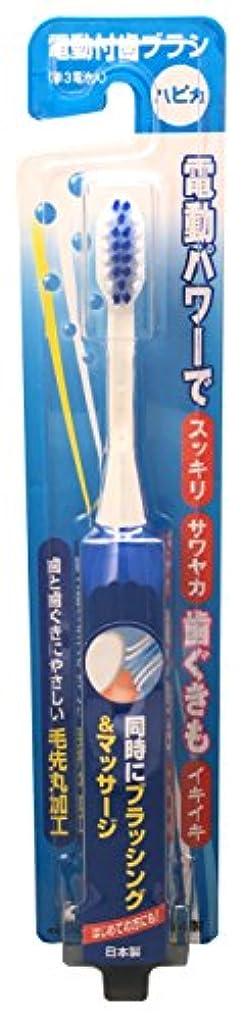 スリット菊津波ミニマム 電動付歯ブラシ ハピカ ブルー 毛の硬さ:やわらかめ DB-3B(BP)