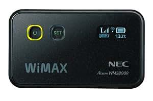 日本電気 WiMAXモバイルルータ AtermWM3800R ブラック PA-WM3800R(AT)B