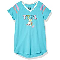 JoJo Siwa Girls TTYL Emoji JoJo & Bow Bow V-Neck Athletic Varsity Stripe Tee Short Sleeve T-Shirt