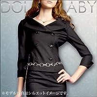 (ドルチェルビ) DOLCE LABY レディース スーツ ダブルジャケット 単品 生地:6.グレー無地(M27210/TK) 15号(3L)着丈49.5 袖丈58 半胴41 裏地:ホワイトドット