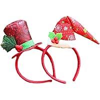 《 Princess★MARRON 》 クリスマス カチューシャ クリスマス帽子カチューシャ 【 みんなで盛り上がろう Xmas カチューシャ 2 個セット 】コンサート パーティー におすすめのカチューシャです ? 赤