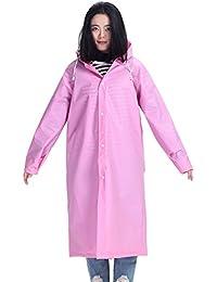 旅行 アウトドア 透明 レインコート 女性 大人 ハイキング ジャケット 全身 防水 働く ポンチョ (色 : ピンク, サイズ : XL)