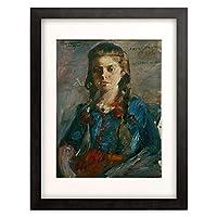 ロヴィス・コリント Lovis Corinth 「Portrat Wilhelmine mit Zopfen」 額装アート作品