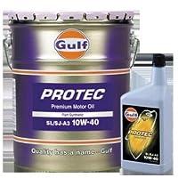 ガルフ【Gulf】 エンジンオイル PROTEC 10W-40 1L X 6本セット 部分合成