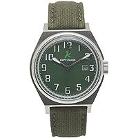 [アンペルマン]AMPELMANN 日本製 腕時計 ユニセックス クオーツ ラウンドフェイス グリーン ASC-4979-12
