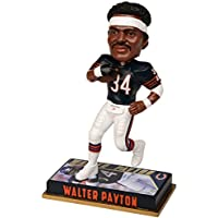 NFL Chicago Bears Walter Payton # 34 Retired Player Bobble、8インチ、チームカラー
