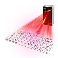 Bluetoothキーボード携帯電話Bluetoothワイヤレスキーボードタブレット赤外線バーチャルプロジェクションキーボード (色 : Silver gray)