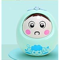 KEANER 新生児 乳児 ロールポリー おもちゃ 安全 ベビーサウンド 小さな羊 パズル タンブラー 教育玩具 (グリーン)