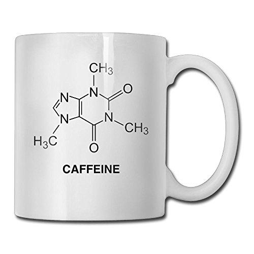 WalDeal マグカップ おしゃれ コップ コーヒーカップ カフェインの分子ロゴ入り 食器 洋風 カフェ オフィス用品 カップ 耐熱 ギフトラッピング