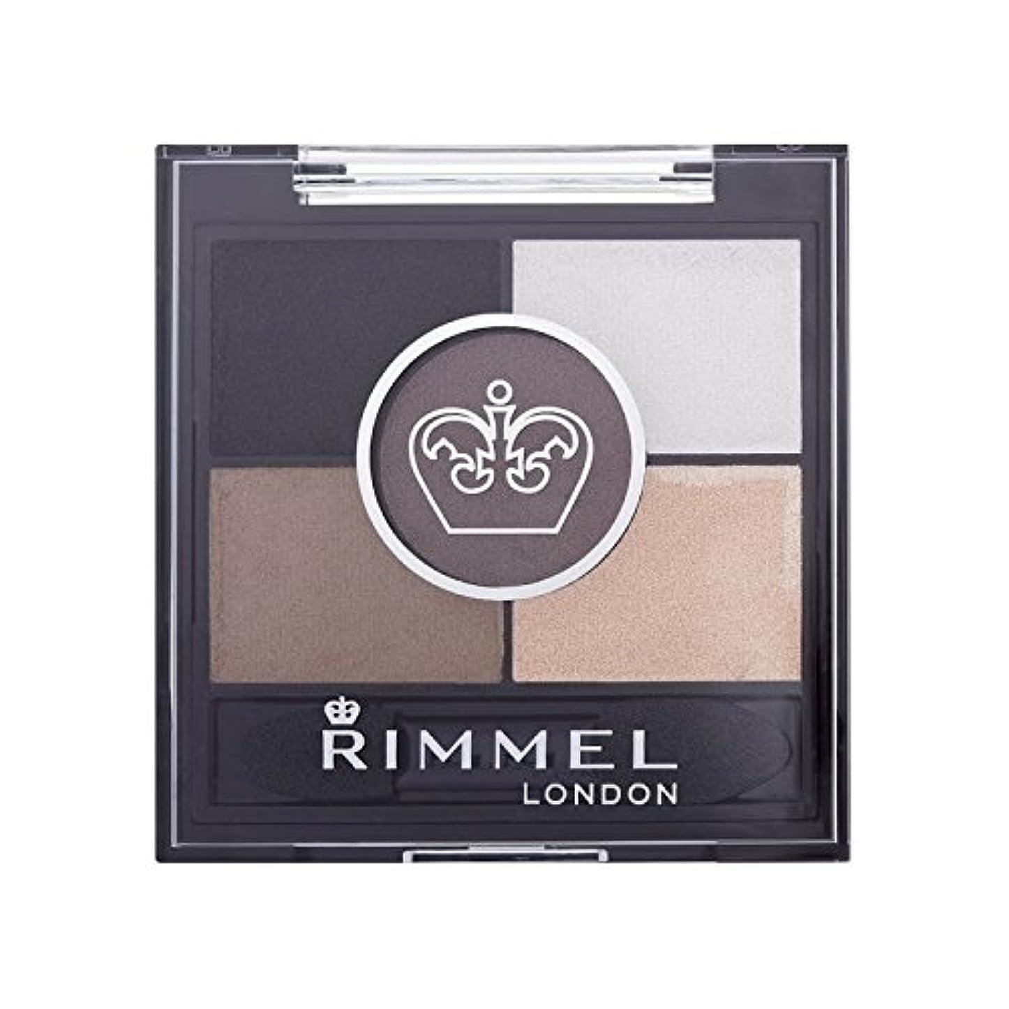 Rimmel 5 Pan Eyeshadow Foggy Grey - リンメル5パンアイシャドウ霧グレー [並行輸入品]