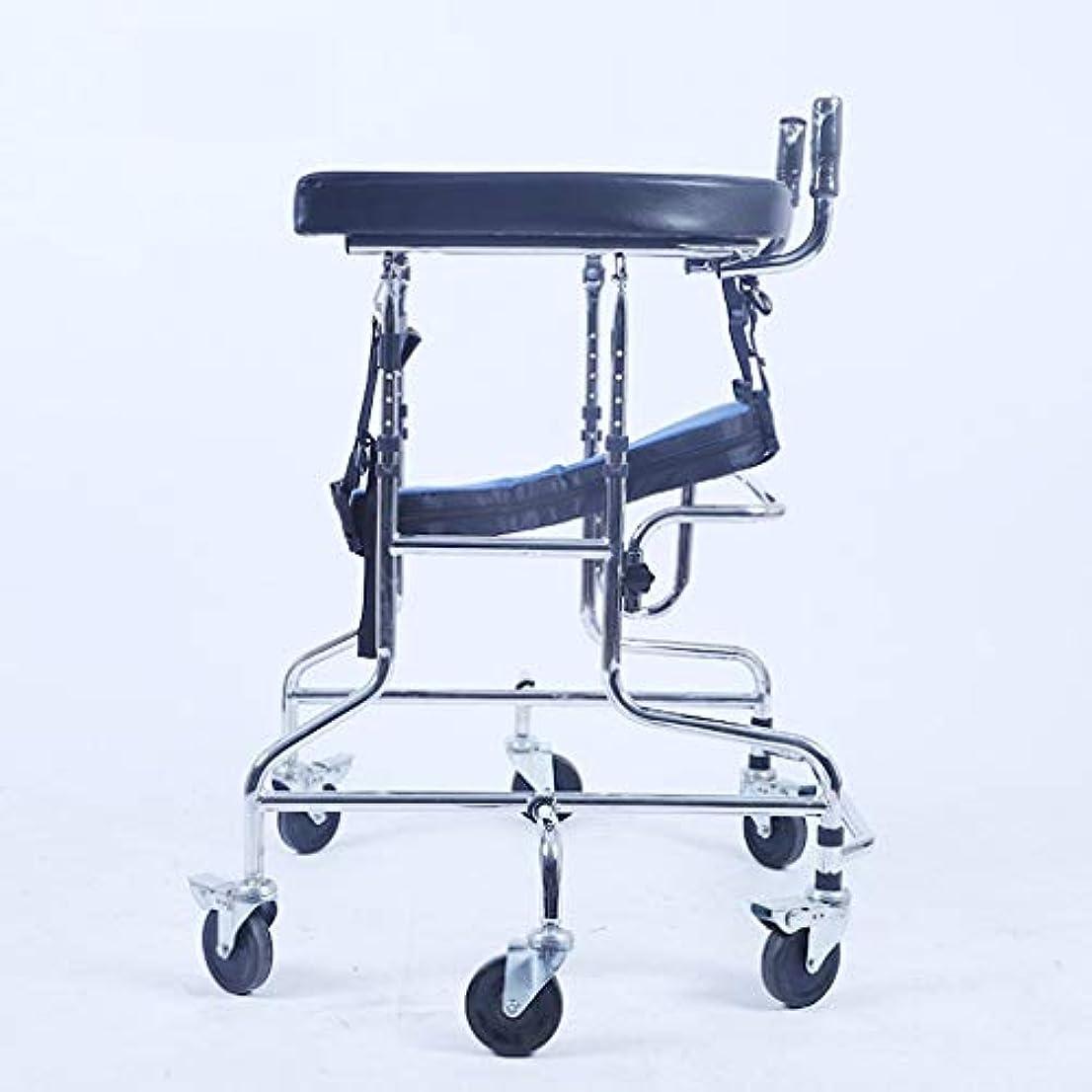 触手色フロンティア子供下肢トレーニング?リハビリ機器/リハビリ機器/スタンディングウォークスタンド/ウォークエイド/ウォーカー/スタンドホイール付きシートホイール(サイズ:C)