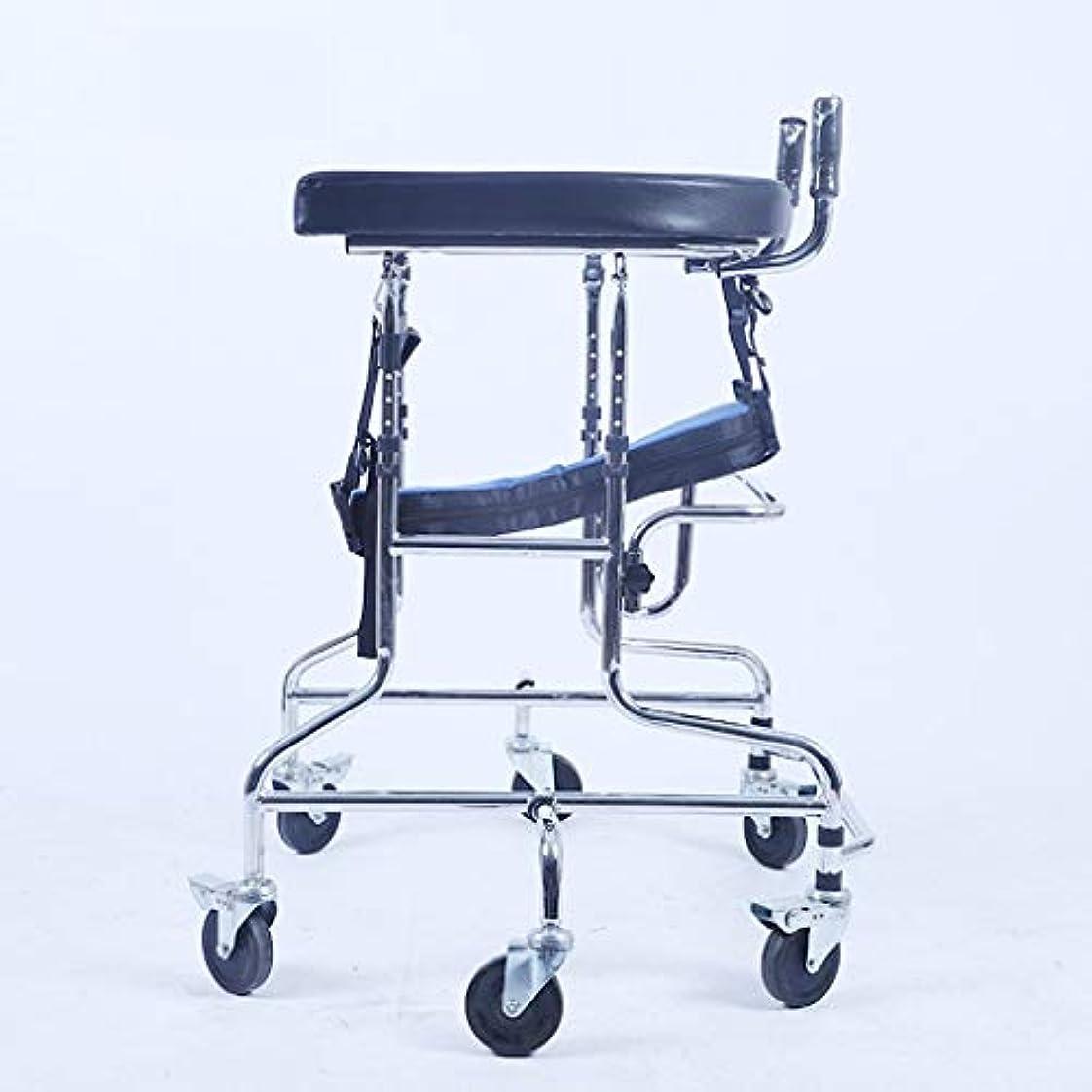 霧深いしみミシン子供下肢トレーニング?リハビリ機器/リハビリ機器/スタンディングウォークスタンド/ウォークエイド/ウォーカー/スタンドホイール付きシートホイール(サイズ:C)