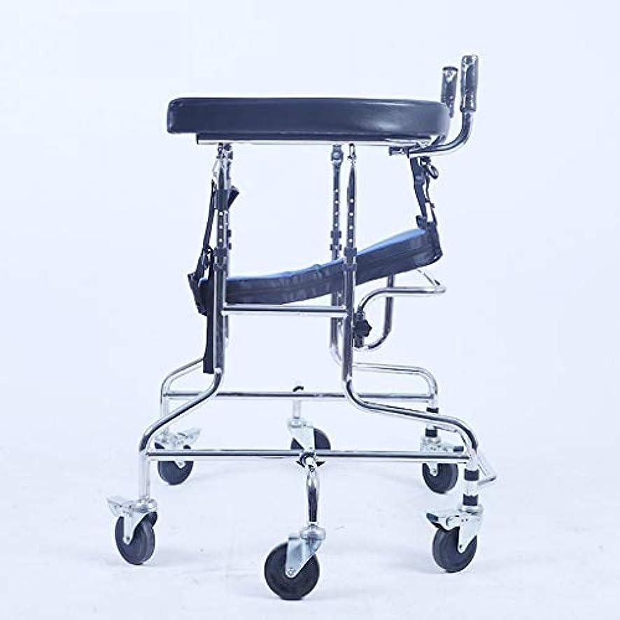 ノーブル周囲ゴム子供下肢トレーニング?リハビリ機器/リハビリ機器/スタンディングウォークスタンド/ウォークエイド/ウォーカー/スタンドホイール付きシートホイール(サイズ:C)