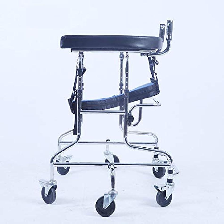 おばあさん弾性注釈を付ける子供下肢トレーニング?リハビリ機器/リハビリ機器/スタンディングウォークスタンド/ウォークエイド/ウォーカー/スタンドホイール付きシートホイール(サイズ:C)