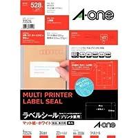 エーワン A-One ラベルシール[プリンタ兼用] A4判 22シート(528片) ホワイト 72524 / 5セット