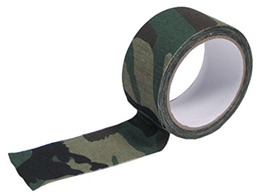 MFH 綿ファブリックテープ Fabric Tape 100%コットン 5cm x 10m - WOODLAND Camo 迷彩