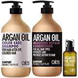 Cab's Argan Oil Colour Care Shampoo (750ml) Conditioner (750ml) Serum (50ml) Kit