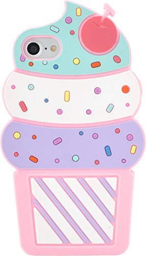PLATA iPhone7 ケース ソフトクリーム アイス ...