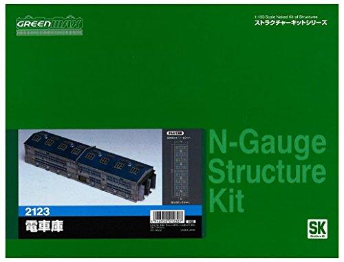 ■【グリーンマックス】(2123) ストラクチャー電車庫 GREENMAX Nゲージ 鉄道模型