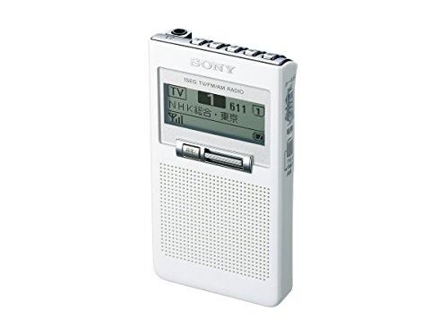 ソニー SONY ポケットラジオ XDR-63TV : ポケッタブルサイズ FM/AM/ワンセグTV音声対応 ホワイト XDR-63TV W