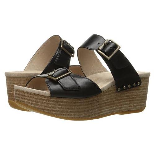 (ダンスコ)Dansko レディースサンダル・靴 Selma Black Burnished US Women's 6.5-7 23.5-24cm Regular [並行輸入品]