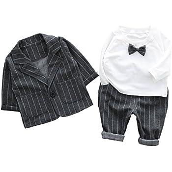 82dca4b01eeb8 Cloudkids ベビー キッズ フォーマル スーツ 長袖 シャツ ジャケット ズボン 3点セット 子供服 赤ちゃん 男の子