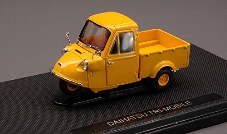エブロ 1/43 ダイハツ トライモービル 1959 イエロー 完成品