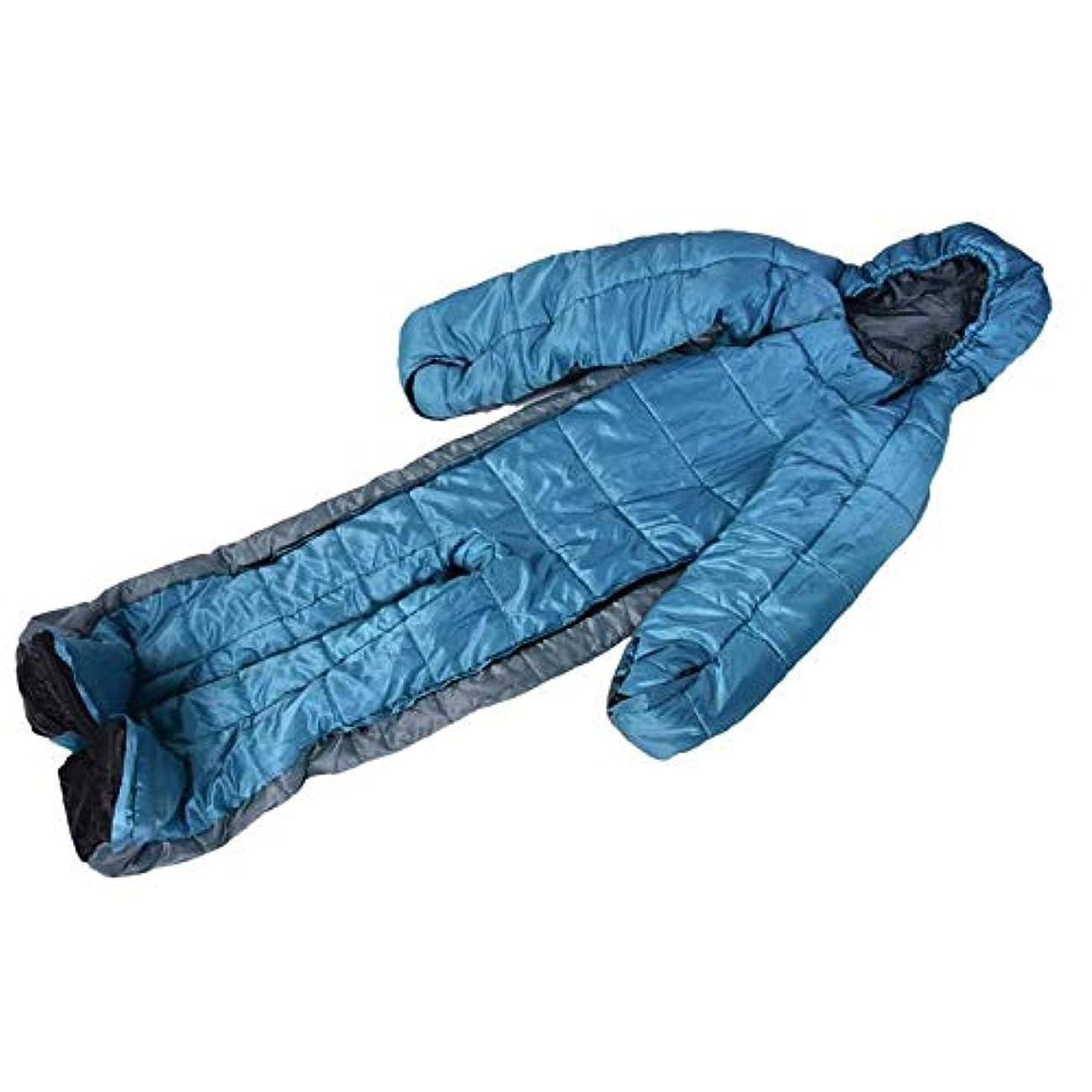 浸したシングル合理的ミイラ寝袋ヒューマノイド寝袋冬暖かい寝袋