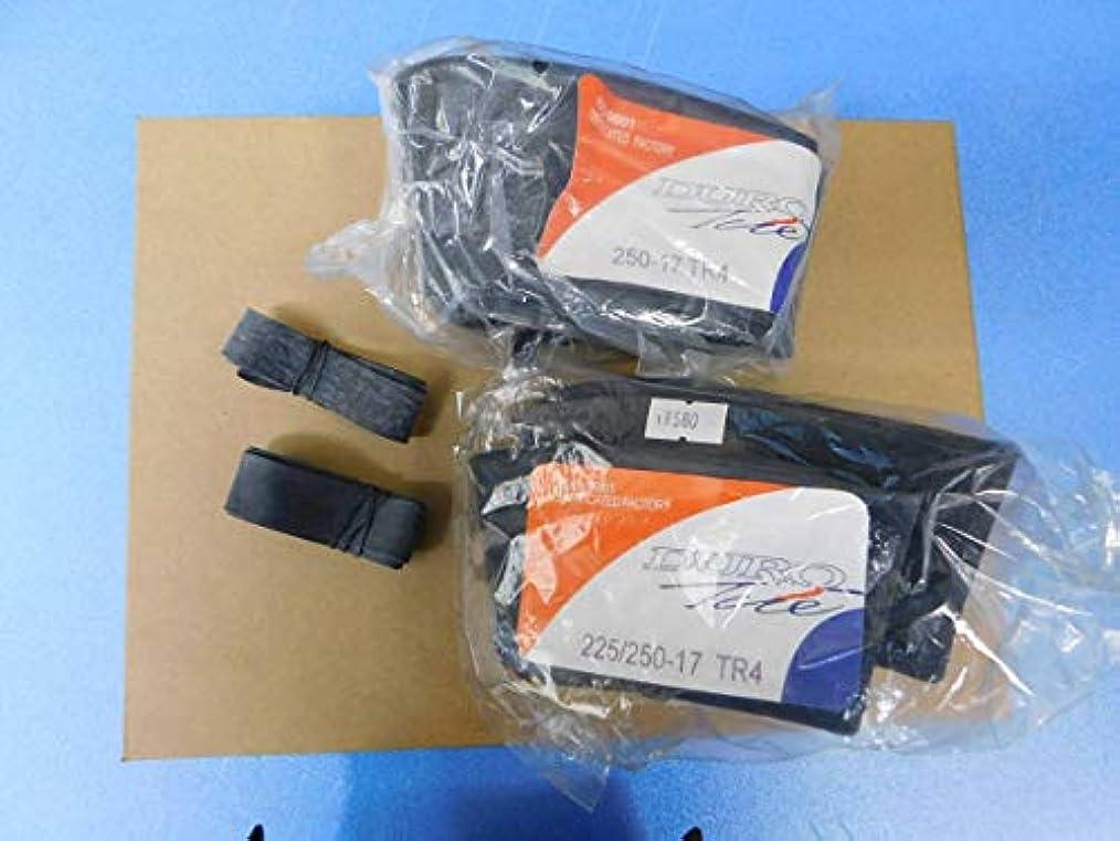 一部シャットの面ではDuro(ダンロップ協力工場)2.50-17チューブ直バルブ+リムバンドx2本