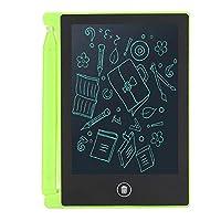 LCD 書き込みタブレット 4.5インチ ポータブル 多機能 超薄型 ライティングタブレット ワンボタン消去 目の保護 電子製図ボード 落書きボード 子供と大人向けの感謝祭ギフト LCDパネル(グリーン)